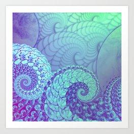 """""""Cosmic Space Kraken"""", by Brock Springstead Art Print"""