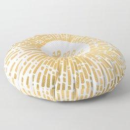 Hello Sunshine Gold Floor Pillow