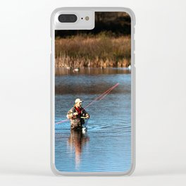 Gone Fishing 3 Clear iPhone Case