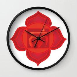 Muladhara Root Red Chakra Wall Clock