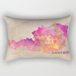 Austria map Rectangular Pillow