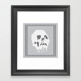 Skull Tile Framed Art Print