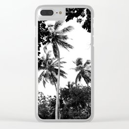 Tall trees Clear iPhone Case