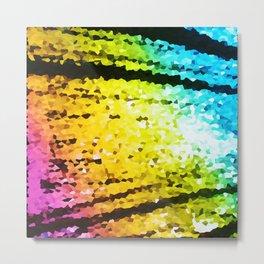 rainBoW Crystal Texture Metal Print