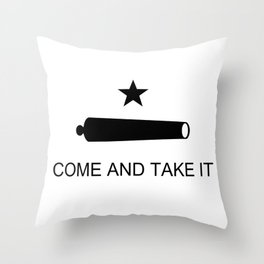 Texas Come and Take it Flag (high quality image) Throw Pillow