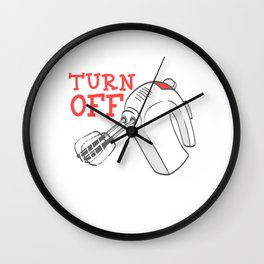 Pie Dinner Food Funny Gag Thanksgiving Day Dessert Funny Turn Off Before Licking T-shirt Design Wall Clock