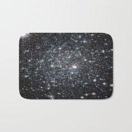 Stars : subtle black blue gold Bath Mat