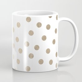 Simply Dots in White Gold Sands Coffee Mug