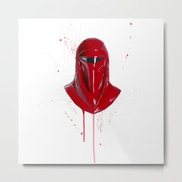 Red Imperial Guard Metal Print