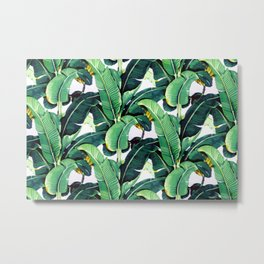 Tropical Banana leaves pattern Metal Print