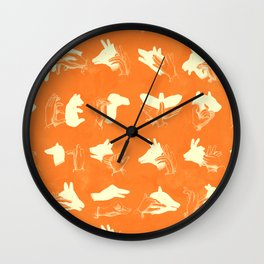 ACME Orange Shadow Puppets Wall Clock