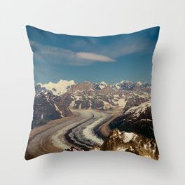 ALASKA I: Ruth Glacier beneath Denali ~ The Great One ~ Mt. McKinley Throw Pillow