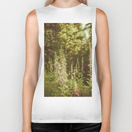 A New Day II Wildflowers at Dawn - Nature Photography Biker Tank