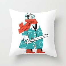 Creepy Scarf Guy Throw Pillow
