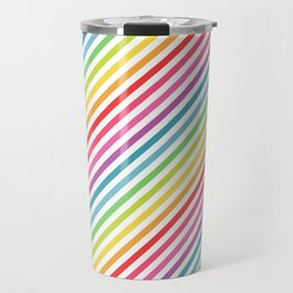 Rainbow Geometric Striped Pattern Travel Mug