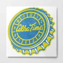 Vintage Alka-Time Soda Pop Bottle Cap Metal Print