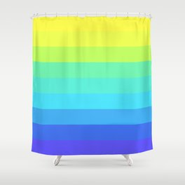 Slices Of Colors Shower Curtain