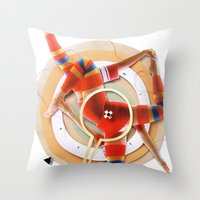 pivot Throw Pillows featuring Pivot | Collage by Lucid House