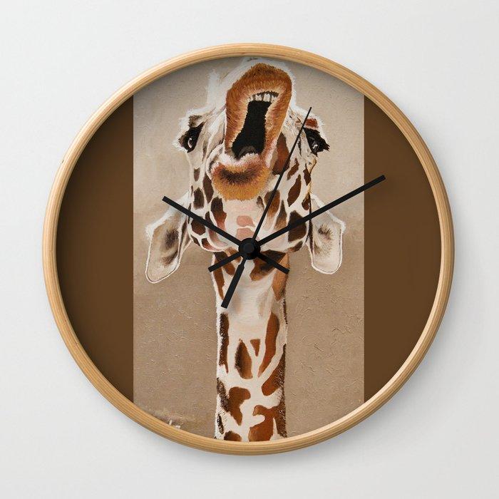 Singing Giraffe Wall Clock