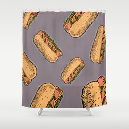 THERE'S ALWAYS TIME FOR A HOT-DOG! - LILAC Shower Curtain