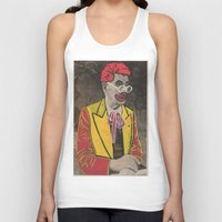 makeup Tank Tops featuring Ronald The man behind the makeup by Little Francis