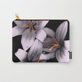 Black and White Ant Lilies Flower Scanography Carry-All Pouch