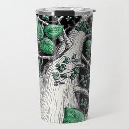 Big tree in black Travel Mug
