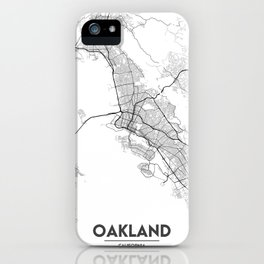 Minimal City Maps - Map Of Oakland, California, United States iPhone Case