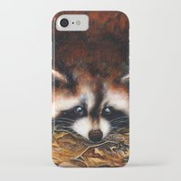 raccoon iPhone & iPod Cases featuring Raccoon by Patrizia Ambrosini