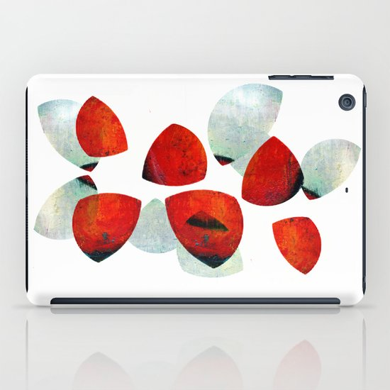 composition in red and grey iPad Case