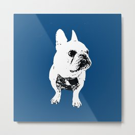 George the cutest French Bulldog Metal Print