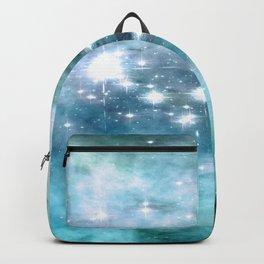 nEbulA Aqua Teal Sparkle Backpack