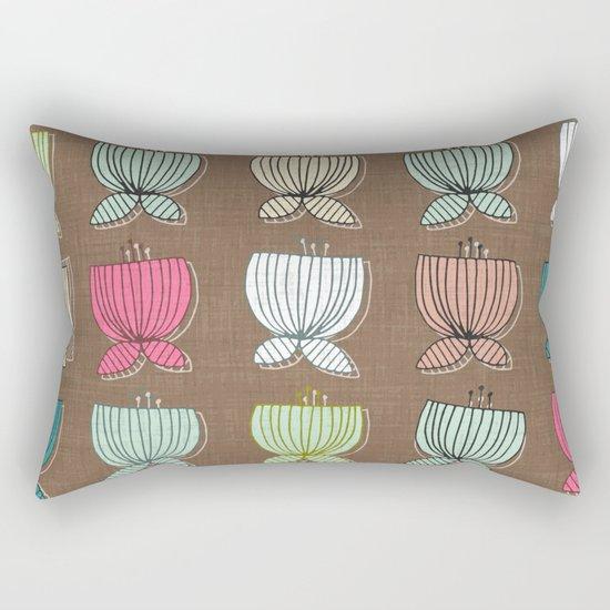 flower cups brown Rectangular Pillow