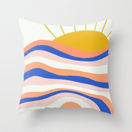 sunrise surf Throw Pillow
