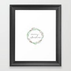 Christmas Design Framed Art Print