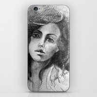 jessica lange iPhone & iPod Skins featuring Jessica by Judy Hung