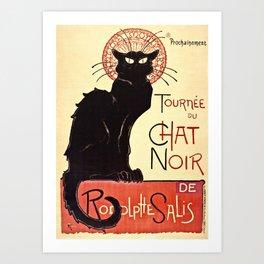 Theophile Alexandre Steinlen - The Black Cat Cabaret Art Print