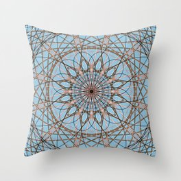 Geometric Abstract Flower - c15528 Throw Pillow