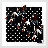 polka Art Prints featuring : polka : by Bauerhorst
