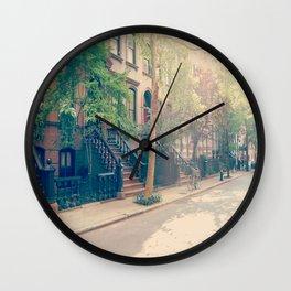 West Village Perry Street New York City Wall Clock