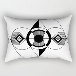 Push Pull Surrender Rectangular Pillow