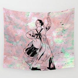 Mago's Janggu Chum  (Traditional Korean dancer with drum) Wall Tapestry