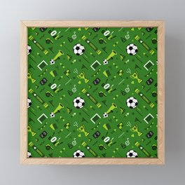 Soccer Pattern | Goal Score Stadium Champion Framed Mini Art Print