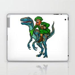 Leprechaun Rides Velociraptor   St. Patrick's Day Laptop & iPad Skin