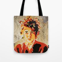 dylan Tote Bags featuring Dylan by Ben Brush