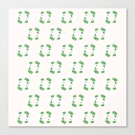 Holiday Wreath Pattern Canvas Print