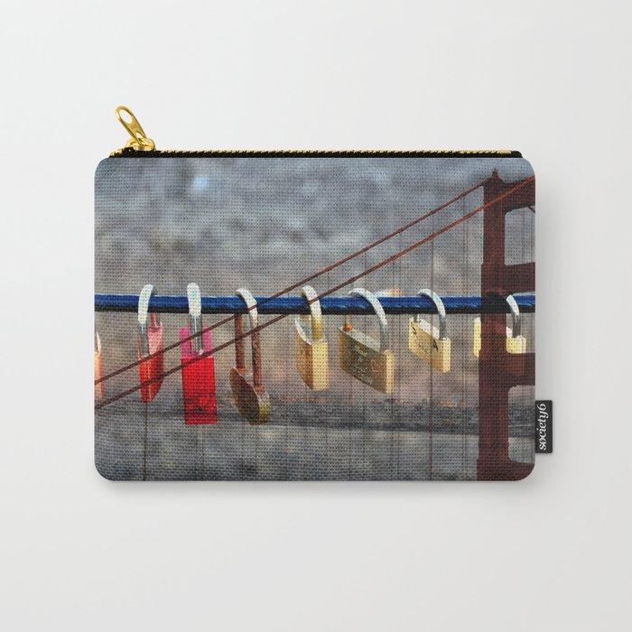 LOVE LOCKED - GOLDEN GATE BRIDGE Carry-All Pouch