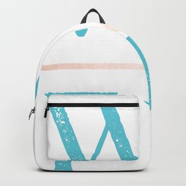 Wild and Free Turquoise Rose Gold Backpack