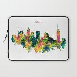 Atlanta Watercolor Skyline Laptop Sleeve