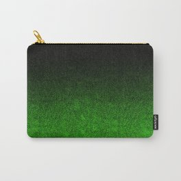 Green & Black Glitter Gradient Carry-All Pouch
